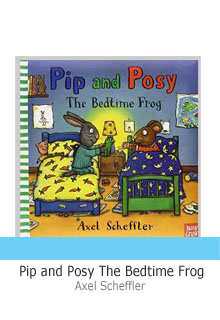 Pip and Posy bedtime Frog grey lettering