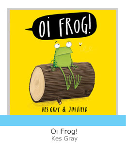 oi frog grey letters