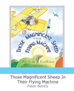 Those magnificent sheep in their flying machine book end